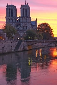 Notre Dame Cathedral, Paris, France, where Emperor Napoleon I and Empress Josephine were crowned during the First French Empire.
