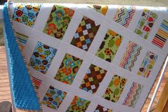 Soft Minkee Quilt for Baby Boy by MagpieQuilts on Etsy, $140.00