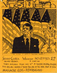 T.S.O.L. flyer I did in 1985.