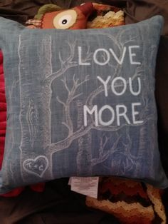 2nd anniversary present for my husband... got the pillow at target and just used those fancy little paint pens to paint on it.