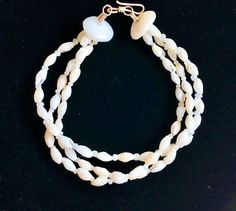 3 Strand Laiki Shell Bracelet, Gorgeous luster and shapes by KuuipoDesignerJewels on Etsy Shell Choker, Shell Bracelet, Shell Jewelry, Shell Necklaces, Hawaiian Girls, Hawaiian Jewelry, Mermaid Jewelry, Lavender Color, Mother Day Gifts