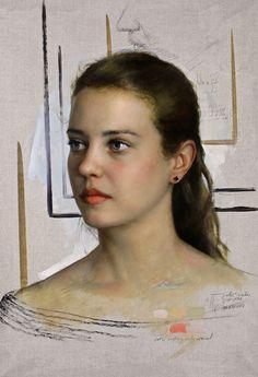 Woman Painting, Figure Painting, Painting Art, Cesar Santos, Hyperrealism Paintings, Ariana Grande Drawings, Oil Portrait, Portrait Paintings, Conceptual Art