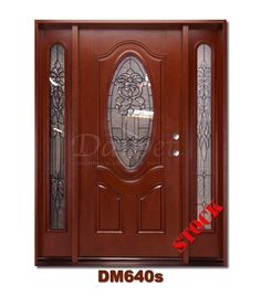 DM640s Mahogany Exterior Fiberglass Door | Darpet Interior Doors for Chicago Builders //  sc 1 st  Pinterest & Dark Walnut Exterior Fiberglass Door with Sidelites 440 | Darpet ... pezcame.com