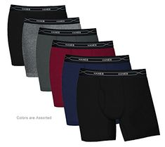 a53738258e9d Hanes Men's FreshIQ Comfort Flex X Temp Red Label Waistband Boxer Brief 6-Pack  – Assorted – Large