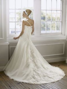 1608 Organza With Embroidery Wedding Dress (Back) – Mori Lee Bridal 2011 Collection