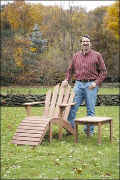 Adirondack chair, reclaimed wood DIY