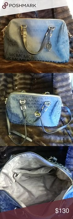 7602f018823224 Michael Kors Large Navy Purse Signature Large Navy Purse. Can be used as  hand bag