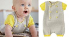 New crochet baby onesie products ideas Knitting For Kids, Baby Knitting Patterns, Tricot Baby, Crochet Baby Boy Hat, Baby Pants, Baby Cardigan, Baby Kids, Point Mousse, Baby Onesie
