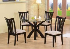 Coaster Home Furnishings Casual Dining Table Base, Deep Merlot Finish NEW Round Dining Table Sets, Glass Top Dining Table, Dining Room Sets, Dining Tables, Glass Tables, Dining Furniture Sets, Coaster Furniture, Fine Furniture, Contemporary Dining Table