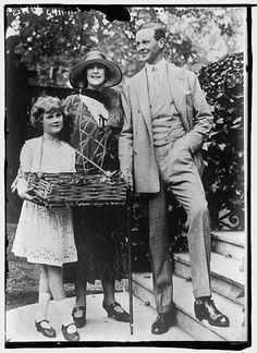 Consuelo Vanderbilt's son, John Spencer-Churchill, then the Marquis of Blandford and later the 10th Duke of Marlborough, with his wife The Hon. Alexandra Mary Cadogan.