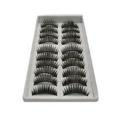 10 Pair Long Black False Eyelashes Eye Lashes Makeup Review   Best Eyelash Growth. #LongBlackFalseEyelashes