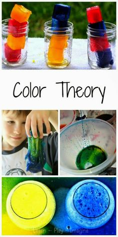 Kindergarten Science Fair: hands on way to explore color theory - fun science for kids! Science Experiments Kids, Science Fair, Science Lessons, Science For Kids, Science Projects, Art For Kids, Mad Science, Stem Projects, Science Ideas