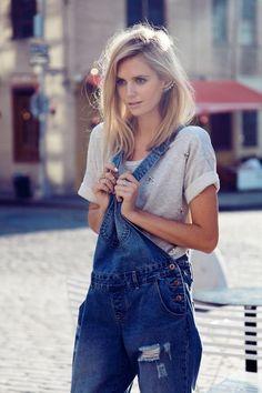 程よい女の子感が\かわいすぎ♡/トレンド【白サロペット】を着こなしてガーリーな2015春夏♡ | GIRLY