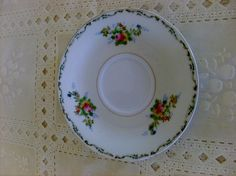 Vintage/Antique Hand-painted 5.5 Inch Saucer with Floral Designs from Japan
