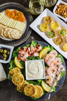 Make holiday entertaining easy and stress free with this semi-homemade Seafood Appetizer Platter with Homemade Mustard Sauce recipe.