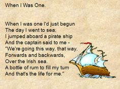 'The day I went to sea' - Sing this hearty pirate song in class with accompanying lyrics and backing track.