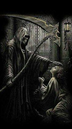 WALLPAPERS - Gothic, skulls, death, fantasy, erotic and animals: death Death Reaper, Grim Reaper Art, Grim Reaper Tattoo, Don't Fear The Reaper, Reaper Drawing, Evvi Art, Beautiful Dark Art, Skull Pictures, Skull Artwork