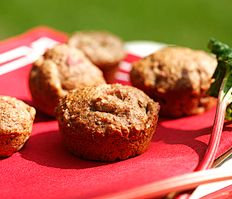 Rhubarb Bran Muffins