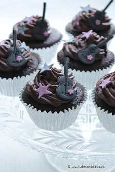 rock star cupcake decorations