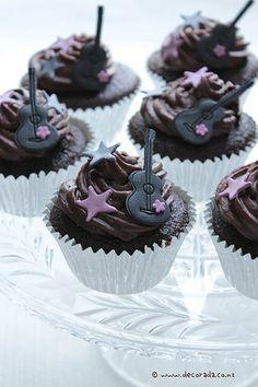 rock star cupcake decorations