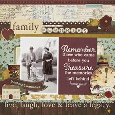 Family Memories - Simple Stories Legacy collection