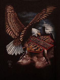 Vintage Harley-Davidson Eagle Logo   vintage harley davidson eagle logo