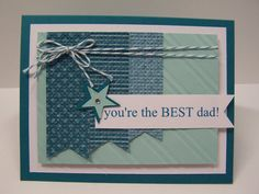 Stampin Up Handmade Greeting Card: Father's Day Card, Happy Father's Day, Step Father Card, Best Father, Best Dad, Husband