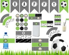 Soccer Birthday Party Package. Printable Soccer Theme