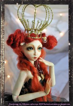 Special Order  Madame Whimsey Doll 15 1/2   by ShariDeppDesigns, $699.00