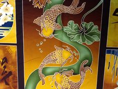Asian Theme Panel Koi Fish Crane Butterflies Lilly Pad's Cotton Fabric Quilting Fabric CS311  SALE! $10.99/panel Koi Dragon, Geisha Japan, Asian Fabric, Panel Quilts, Quilting Fabric, Asian Style, Crane, Printing On Fabric, Butterflies
