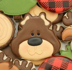 Brown Bear Cookie Close-Up