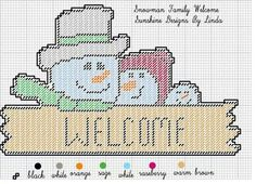 SNOWMAN FAMILY WELCOME by SUNSHINE DESIGNS BY LINDA