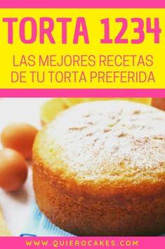 Las mejores recetas de la TORTA 1234 también conocida como BIZCOCHO 1234 o BIZCOCHUELO 1234 #torta1234 #bizcocho1234 #bizcochuelo1234 #recetasdulces #quiero #quierocakesblog 1234 Cake, Star Cakes, Pan Dulce, Cake Bars, Just Cakes, Almond Cakes, Pretty Cakes, Desert Recipes, Quick Easy Meals