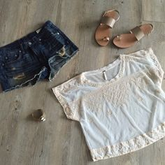 Free People Top Sheer Free People top that has only been worn once and is in great condition. Cropped fit! Perfect for layering over a pretty bralette. ❤️ Free People Tops