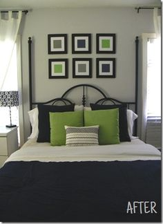Simple for over the bed in the master bedroom (in blue and brown)