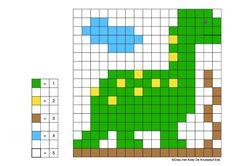 Dinosaurs Preschool, Math Patterns, Ancient Rome, Jurassic World, Illustrations And Posters, Art Education, Diy For Kids, Pixel Art, Cross Stitch