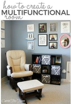 All you need is a little extra space and you can have a craft room, home office, photograpy studio and guest bedroom!  How to create a multifunctional room