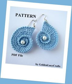 Crochet Sea Shell Earrings | Crochet Pattern | YouCanMakeThis.com