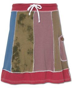 SoulFlower-NEW! Organic Patchwork Skirt-$44.00