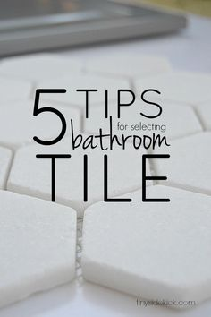 There are so many choices when it comes to choosing tile.  These 5 easy tips really help narrow down the choices and make it so much less stressful!
