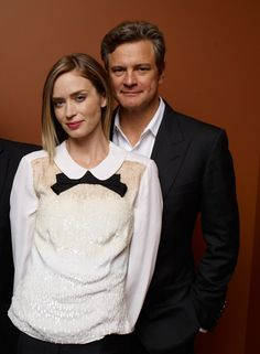 Colin Firth and Emily Blunt - Arthur Newman photo session - Toronto International Film Festival 2012