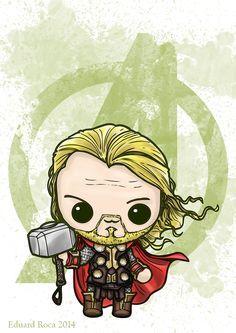Thor #kawaii #cute #avengers #nikochancomics