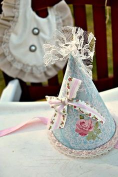 Shabby Chic Party Hat by apetitesoiree on Etsy, $22.00