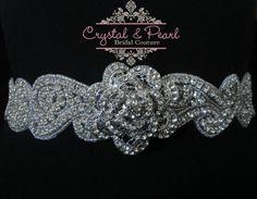 Vintage Crystal Wedding Sash Belt Rose Dress Diamond Rhinestone Bride Art Deco