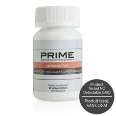Prime Astaxanthin Antioxidant & Ocular Support Formula from Prime™ - There are many health supplements available, but only Prime Astaxanthin Ant States In America, United States, Organic Lifestyle, Nutrition Shakes, Vitamins, Health Products, Oasis, Vitamin D, Health Foods