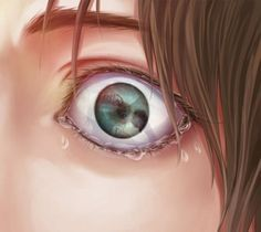 If you look really closely at the reflection of his eye, you can see a titan eating eren's mom which means that this is eren!! :(