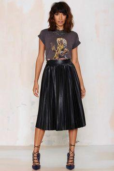 Bleecker Pleated Midi Skirt - Skirts