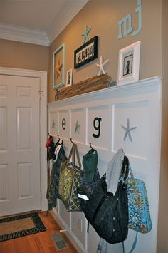 Great idea, but I have a feeling book bags would still end up in the floor