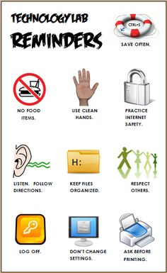 Computer Lab Rules --- Business Education Publishing Posters ...