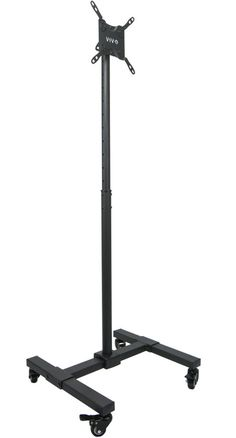 """TV Mobile Floor Stand Height Adjustable Mount w/ Wheels for Screens 13"""" to 42"""" #VIVO"""